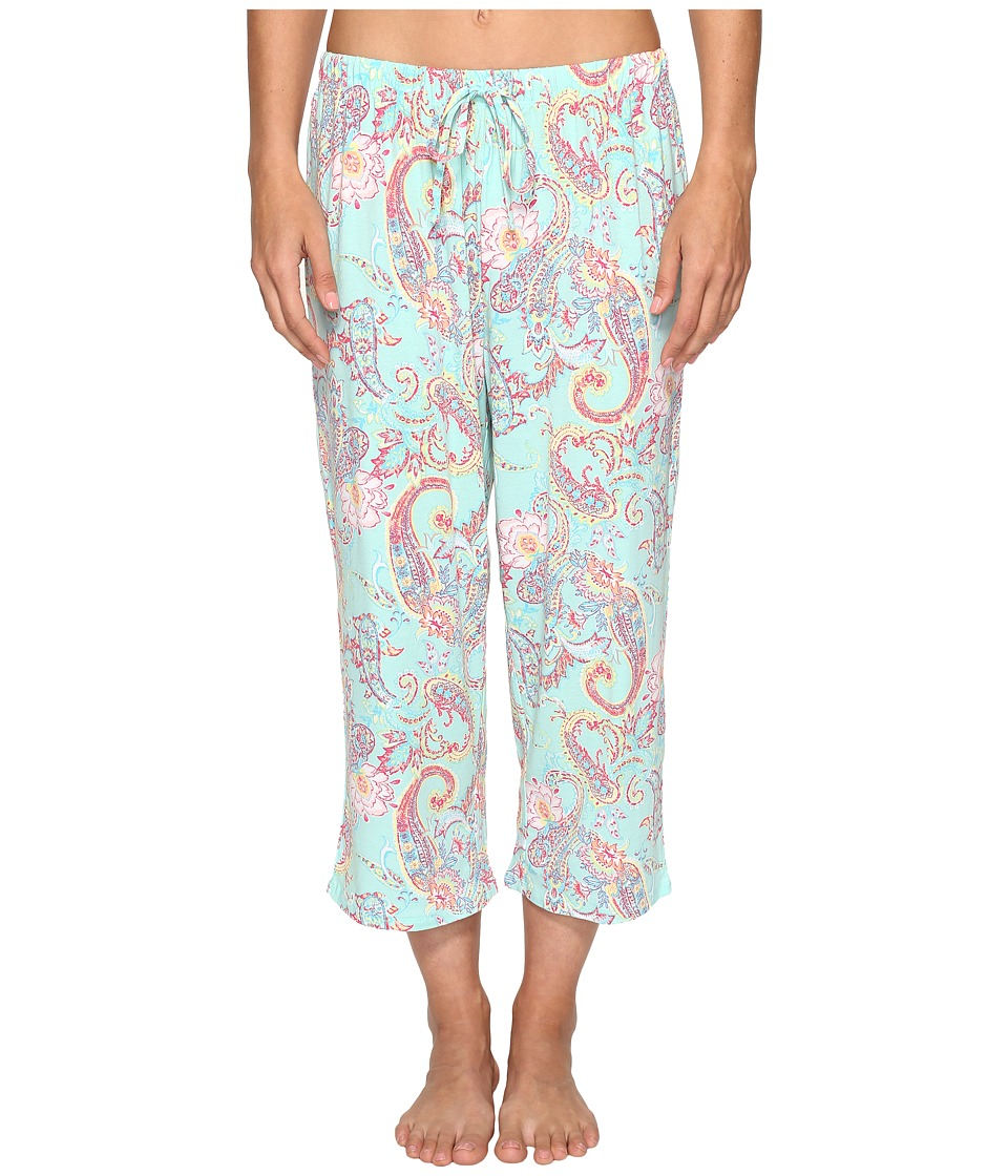 Jockey Printed Capri Pants (Spring Paisley) Women