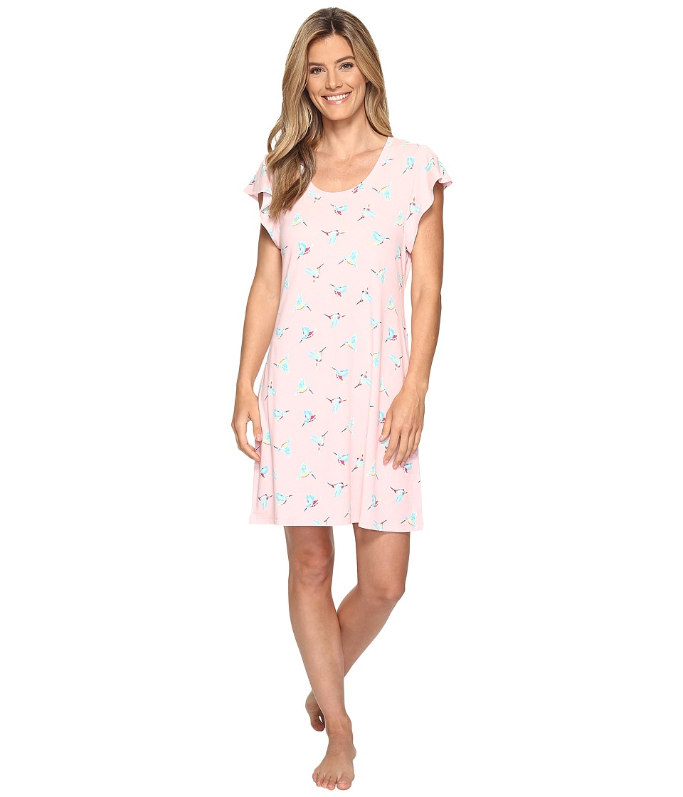 Jockey - Ruffle Sleeve Sleepshirt (Hummingbirds) Women's Pajama