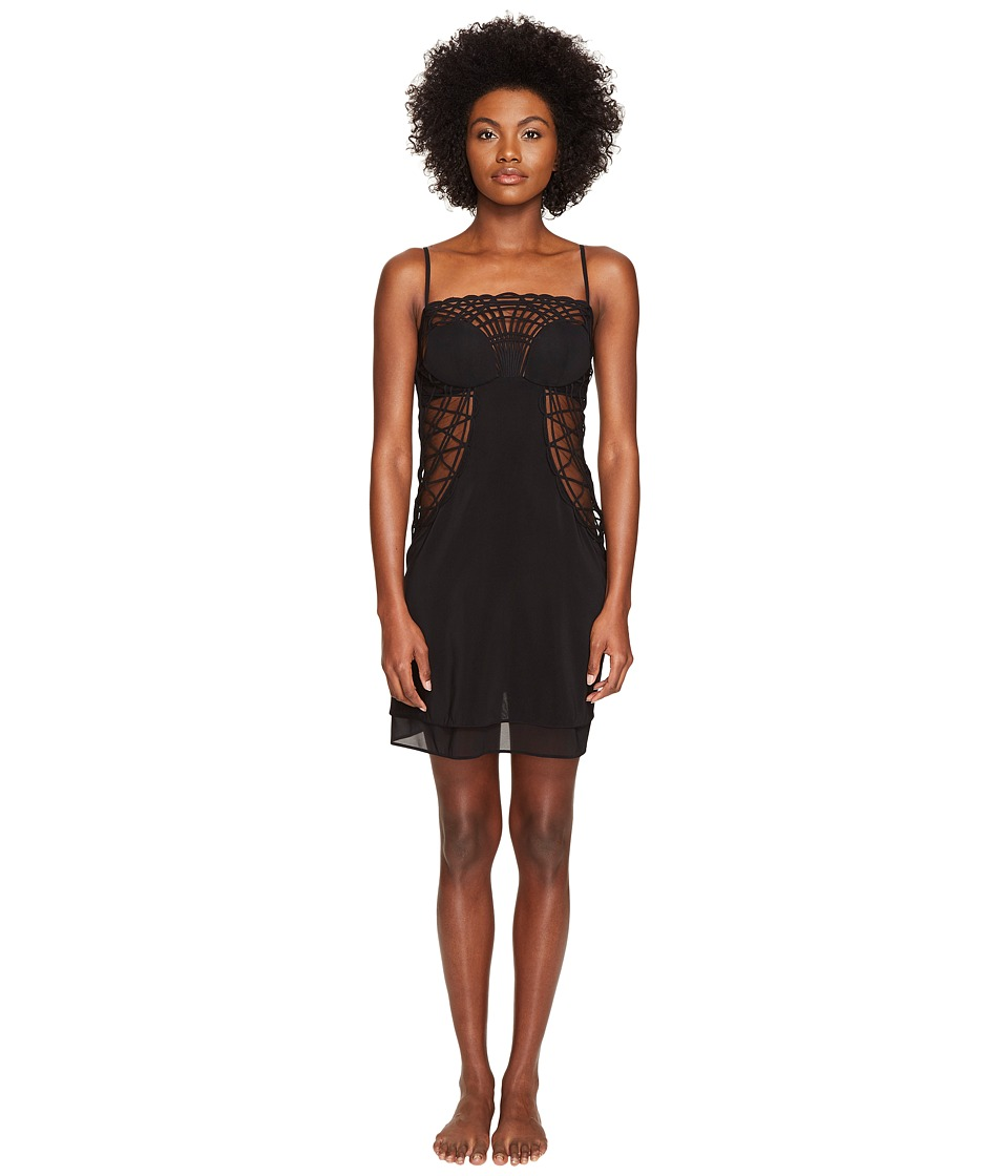 La Perla - Soutache Short Dress (Black) Women's Dress