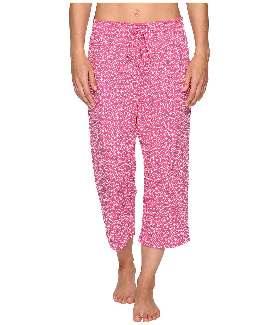 Jockey Printed Capri Pants (Floral Pinwheels) Women