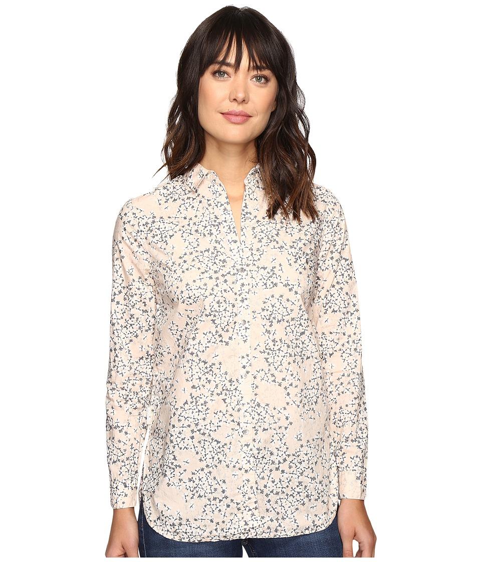 Calvin Klein Jeans - Printed Slim Crisp Boyfriend Button Down Long Sleeve Woven Shirt (Cool Blush) Women's Long Sleeve Button Up