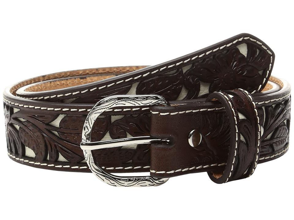 M&F Western - Floral Ivory Cut Out Belt (Little Kids/Big Kids) (Tan) Men's Belts