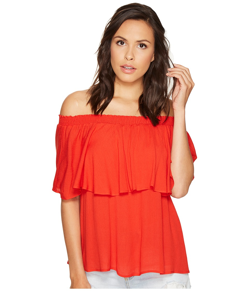 Show Me Your Mumu Bungalow Top (Red Hot Chili Pepper) Women's Blouse