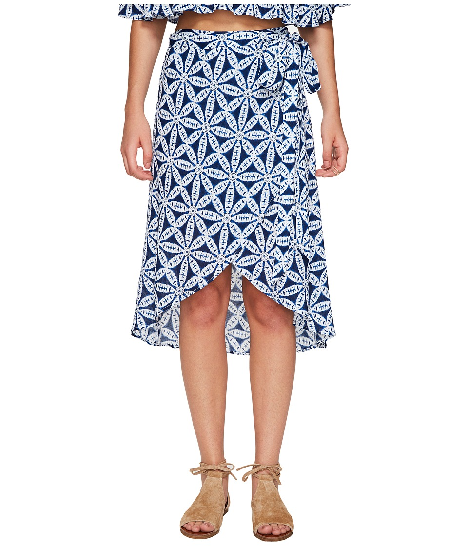 Show Me Your Mumu - Panama Wrap Skirt (Wagon Wheel Cloud) Women's Skirt