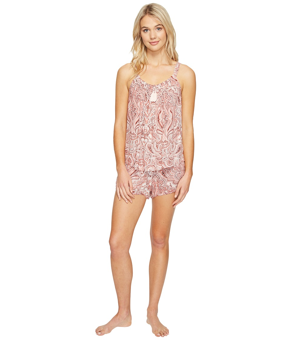 Lucky Brand - Shorty Set (Damask Paisley) Women's Pajama Sets