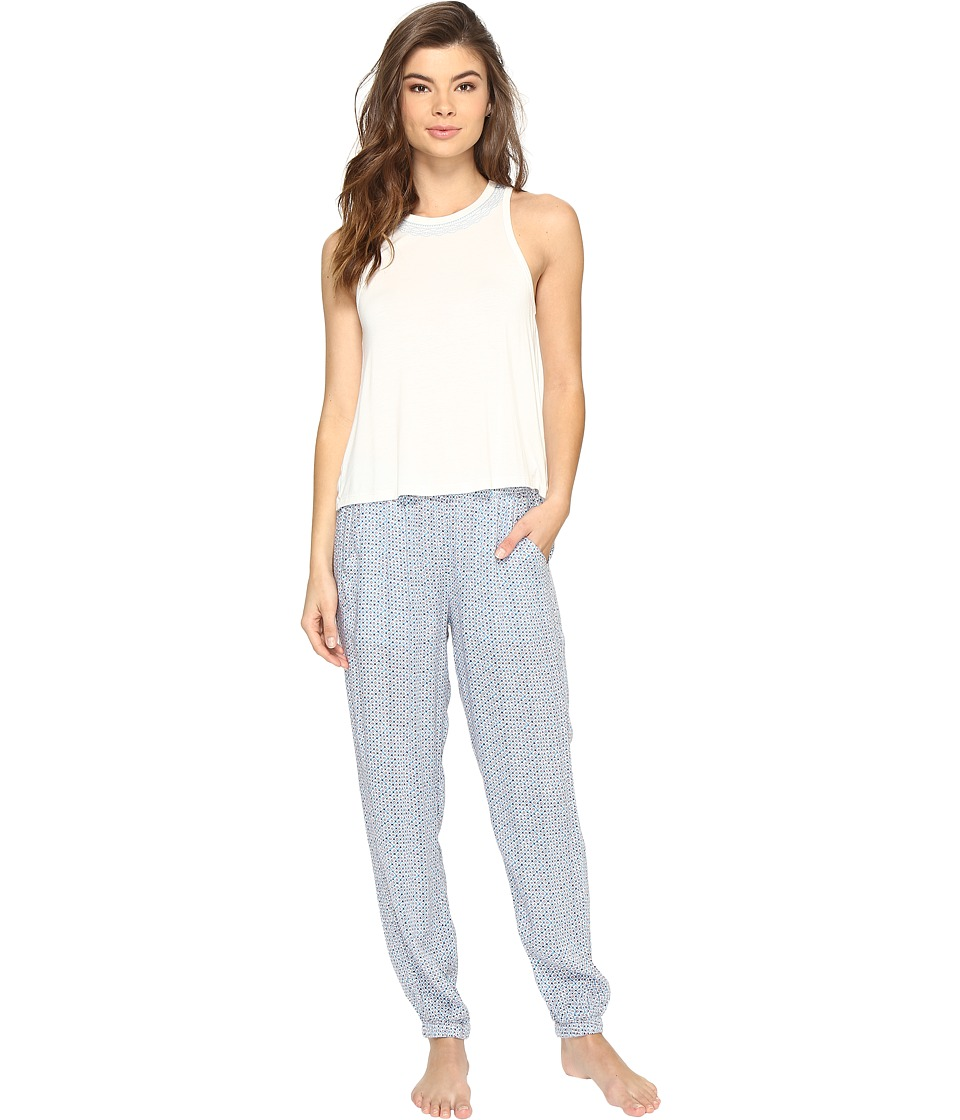 Lucky Brand - Tank Pajama Set (Ditzy Orbit) Women's Pajama Sets