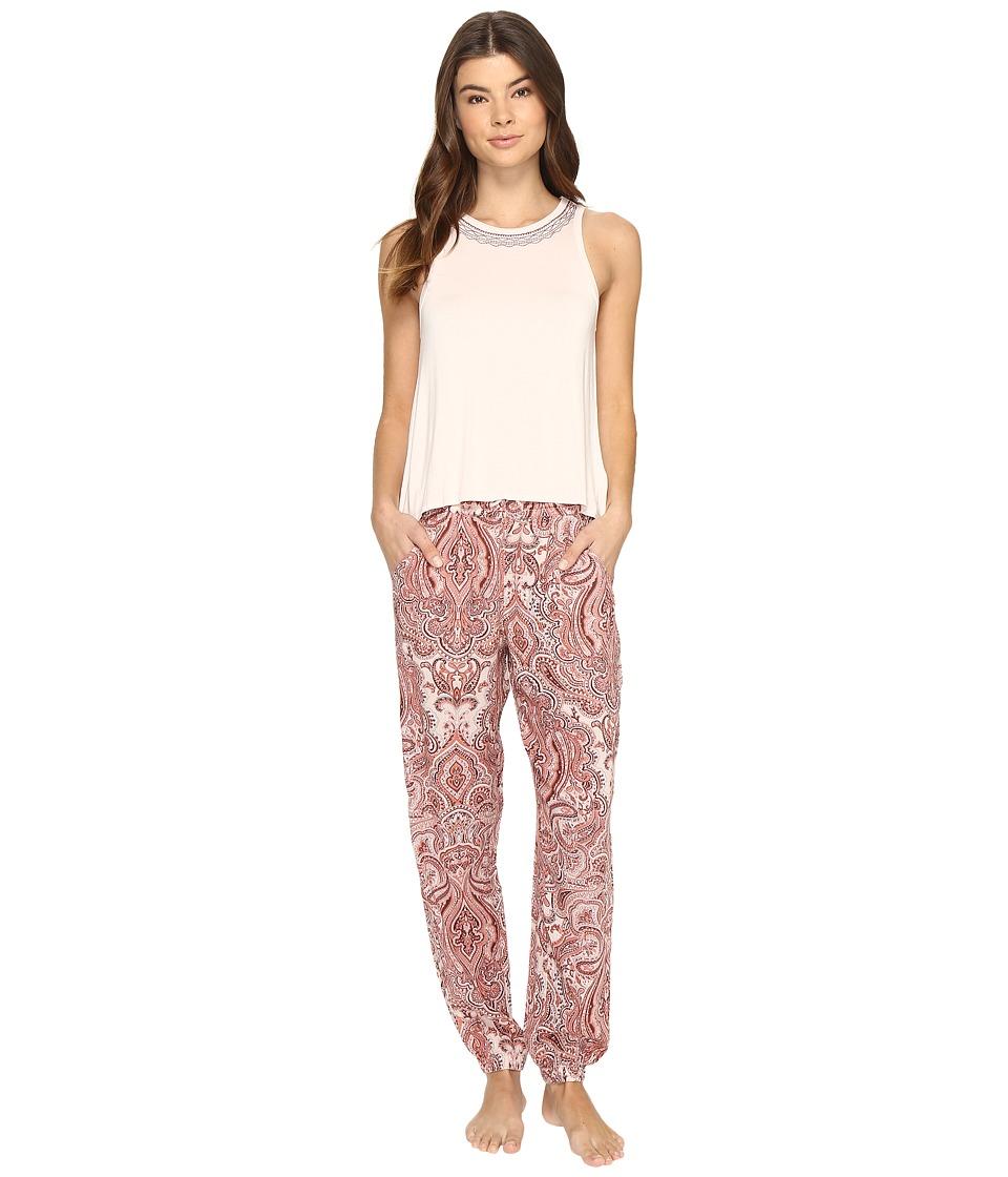 Lucky Brand - Tank Pajama Set (Damask Paisley) Women's Pajama Sets