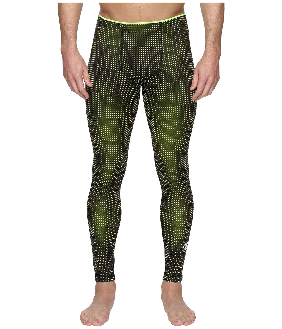 2(X)IST Modern Sport Performance Leggings (Black/Neon Yellow) Men