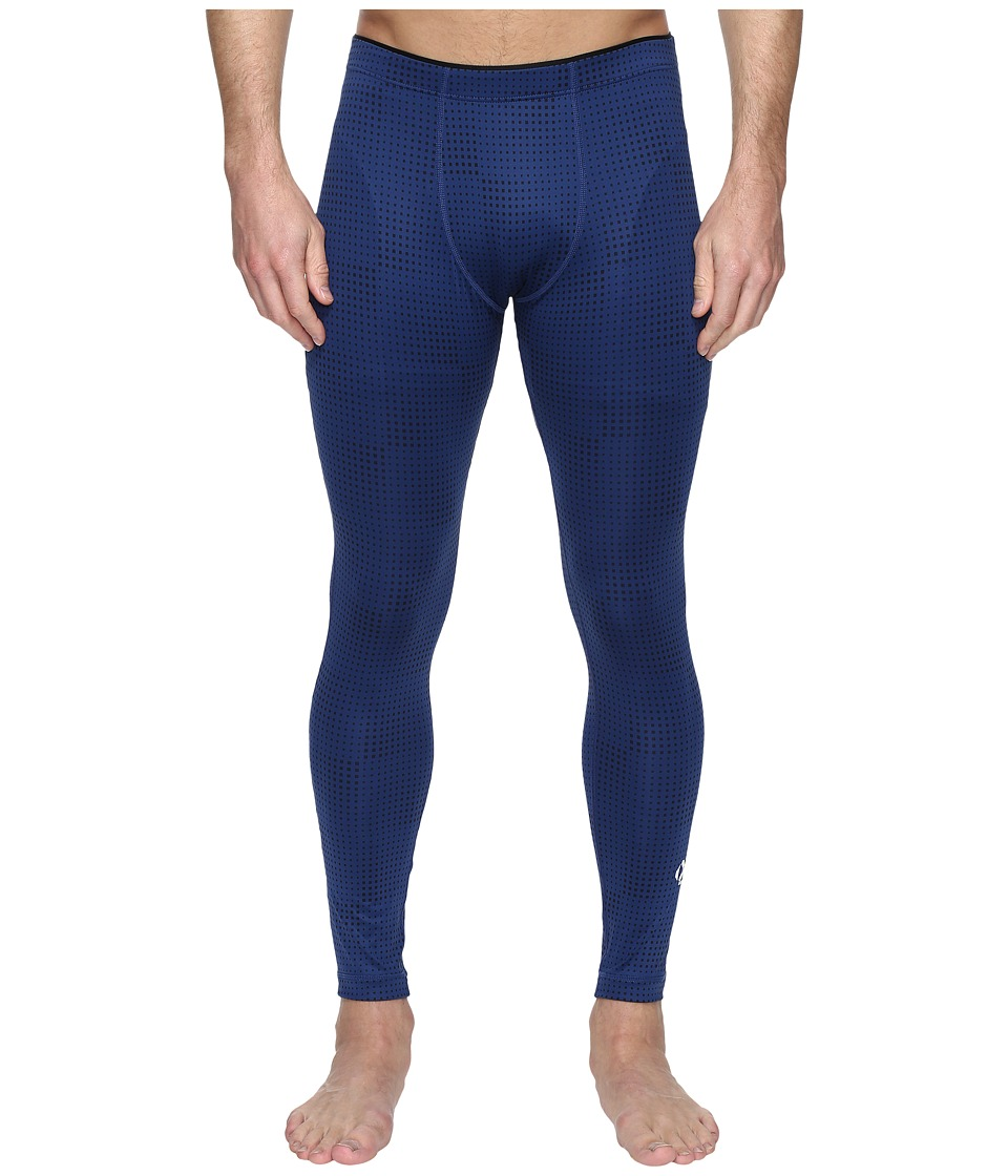 2(X)IST - Modern Sport Performance Leggings (Estate Blue/Black Print) Men's Casual Pants