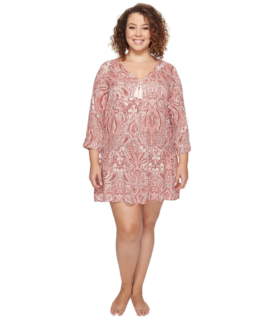 Lucky Brand - Plus Size Sleep Dress (Damask Paisley) Women's Pajama