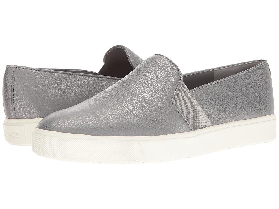 Vince - Blair-12 (Gunmetal Metallic Calf) Women's Slip on Shoes