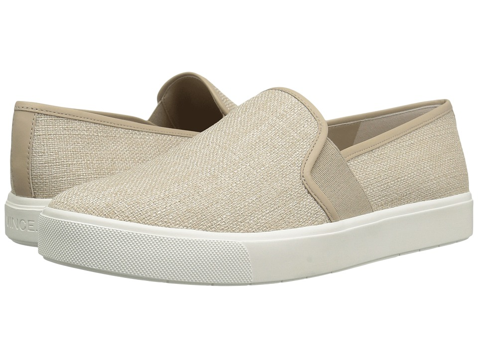Vince - Blair-12 (Straw Textured Linen) Women's Slip on Shoes