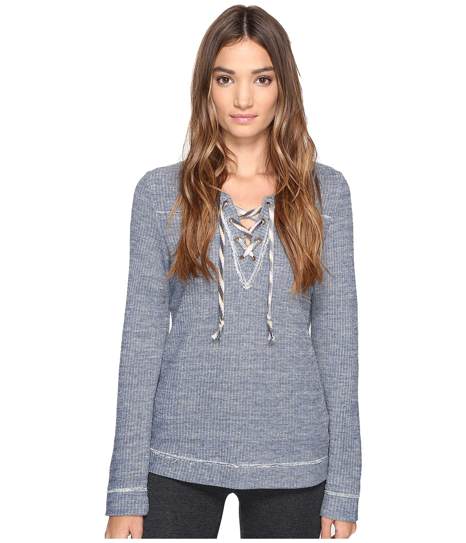 Lucky Brand - Lace-Up Pullover Top (Indigo Denim) Women's Pajama