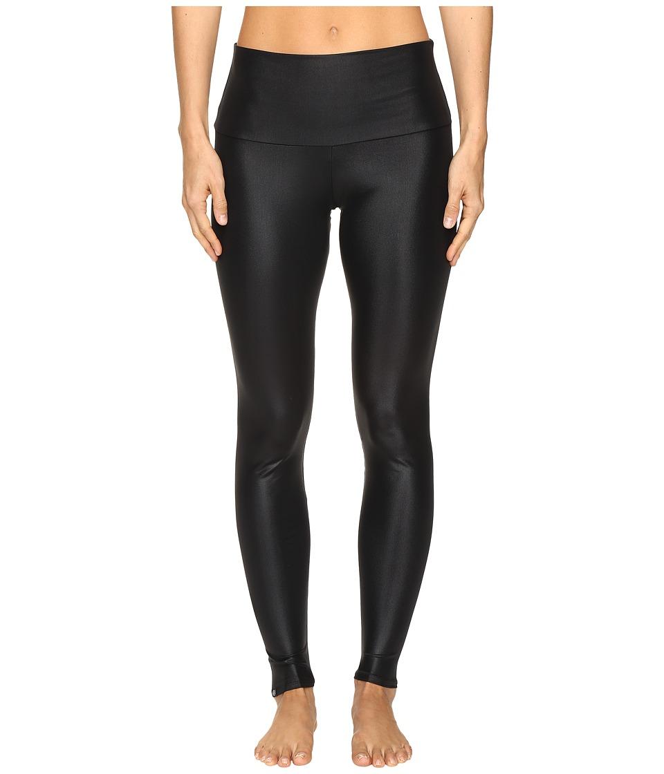 Onzie High Rise Leggings (Shiny Black) Women's Casual Pants