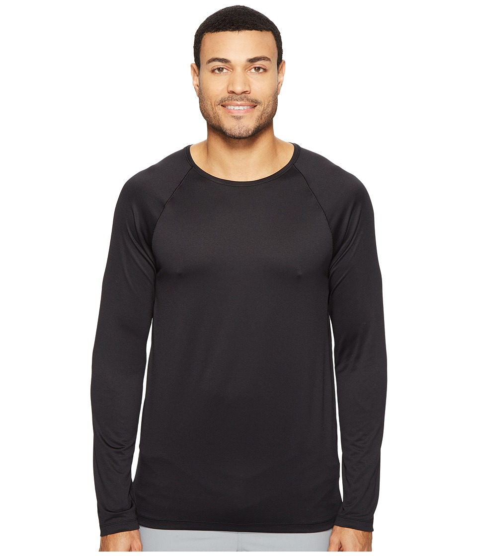 Onzie - Raglan Long Sleeve Top (Black) Men's Long Sleeve Pullover