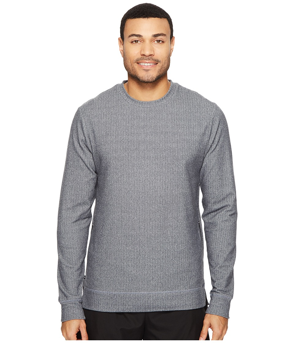 Onzie - Crew Neck Pullover (Charcoal Herringbone) Men's Long Sleeve Pullover