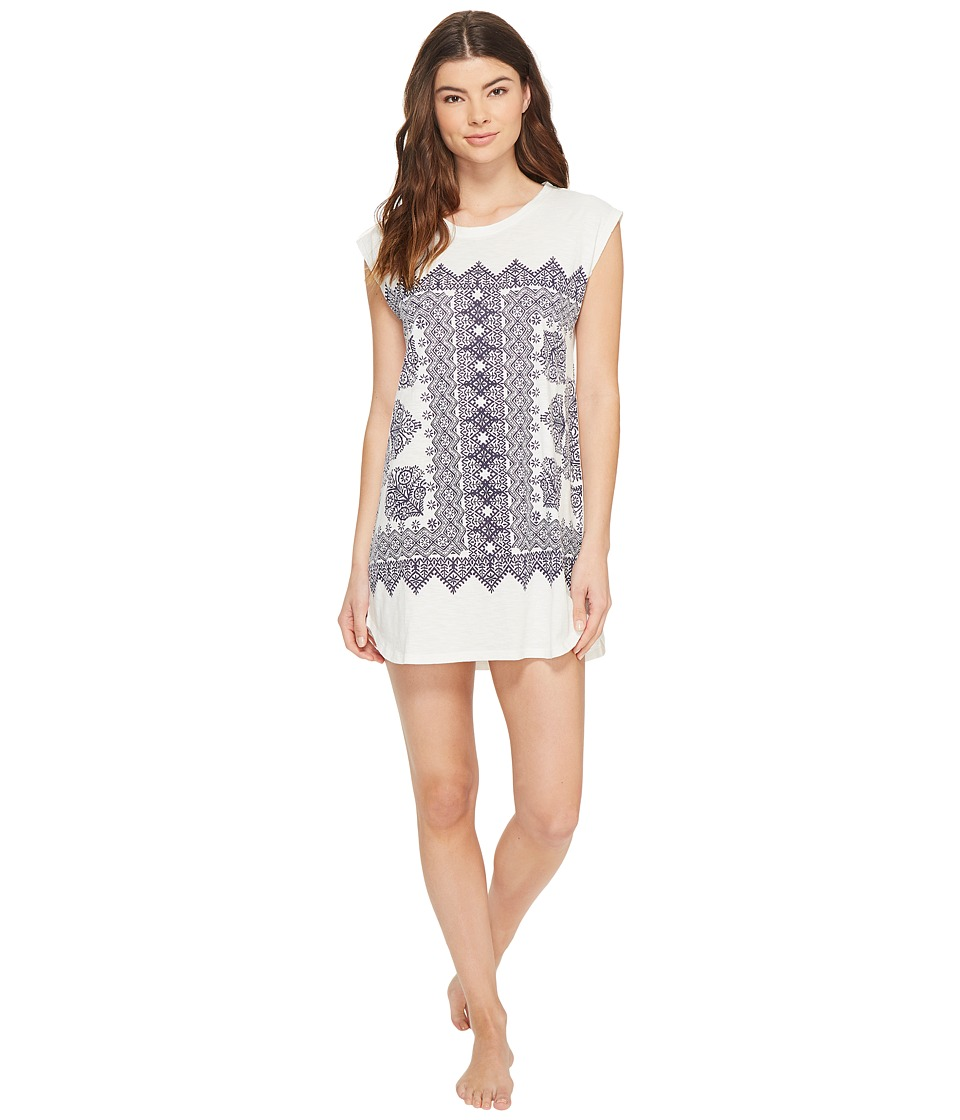 Lucky Brand - Bandana Graphic Sleepshirt (Parchment) Women's Pajama