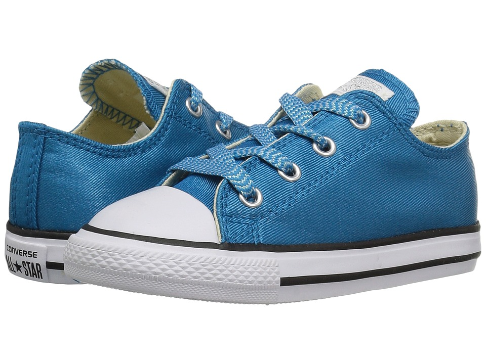 Converse Kids - Chuck Taylor All Star Ox (Infant/Toddler) (Cyan Space/White/Cyan Space) Kid's Shoes
