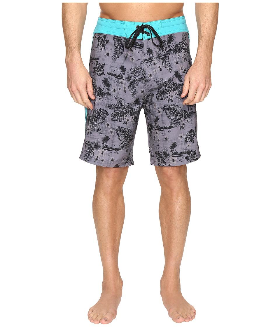 Body Glove Vapor Outrigger Boardshorts (Charcoal) Men