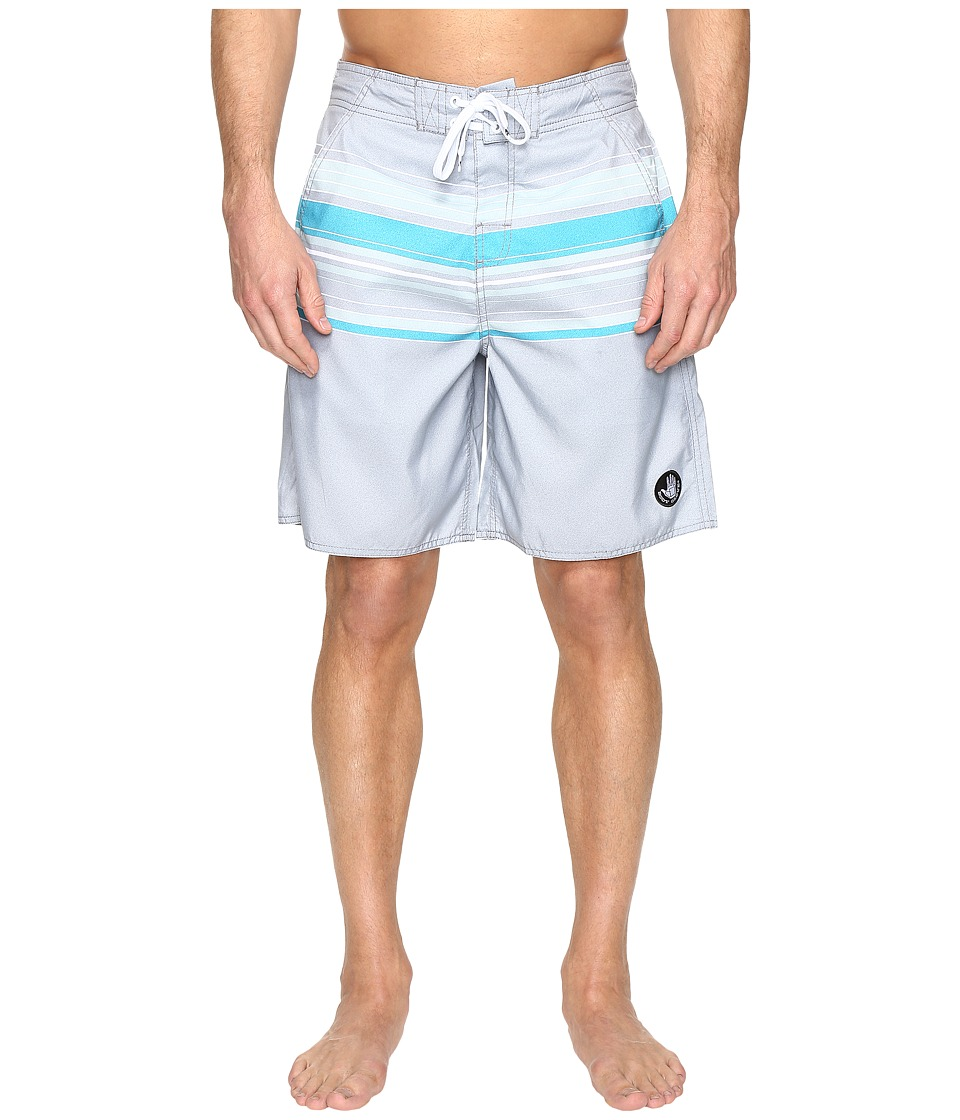 Body Glove - Pacific Beach V-Boardshorts (Grey) Men's Swimwear