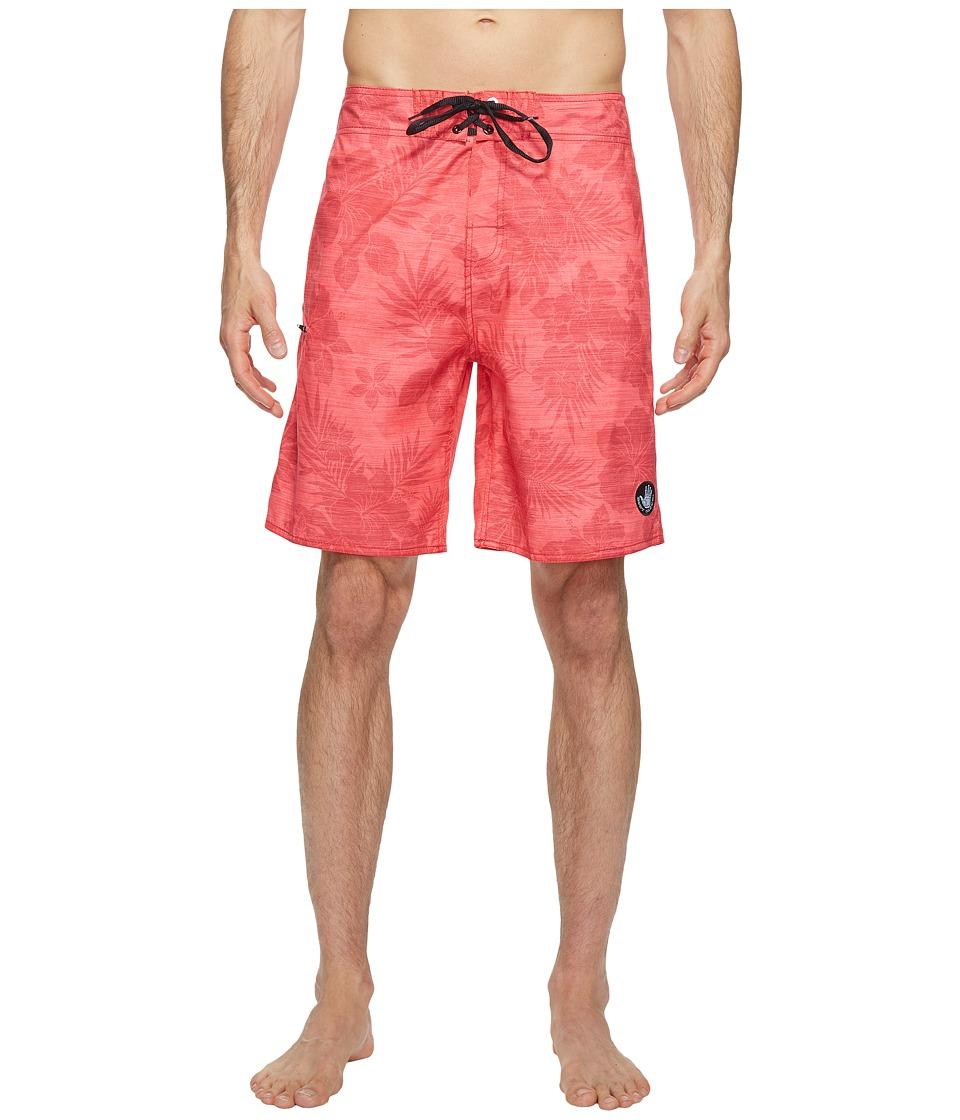 Body Glove - Luau Time Boardshorts (Infrared) Men's Swimwear