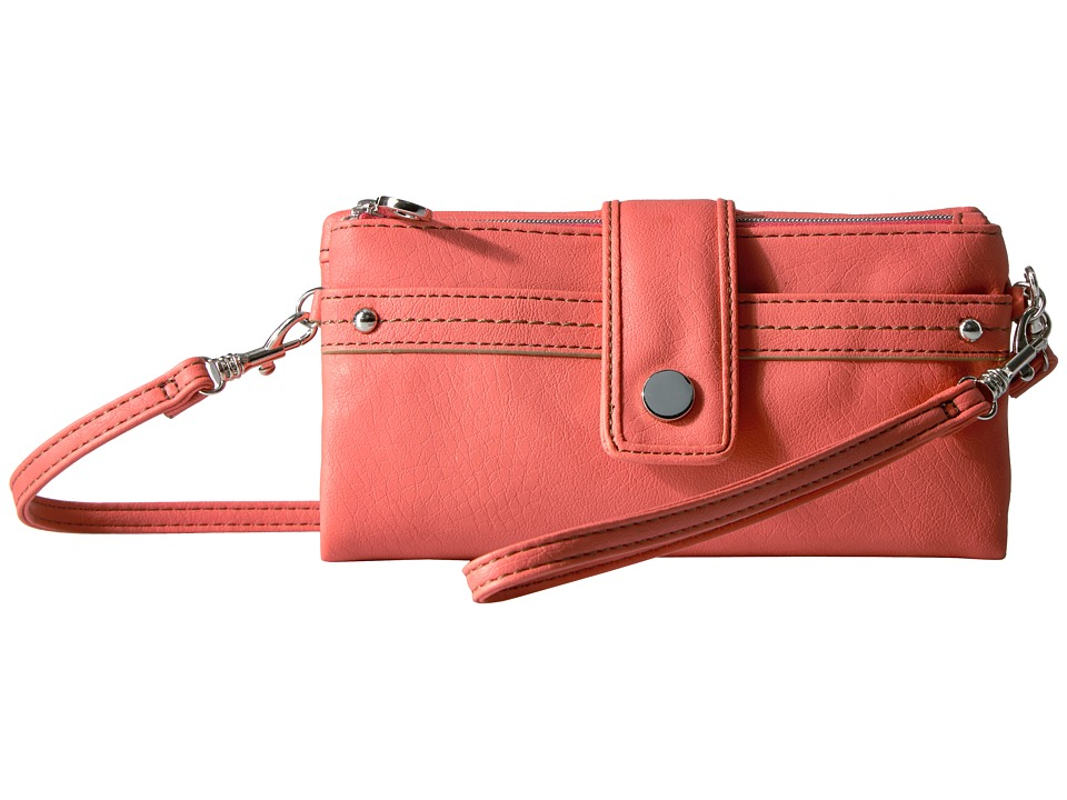 Relic - Vicky Checkbook (Hot Coral) Clutch Handbags