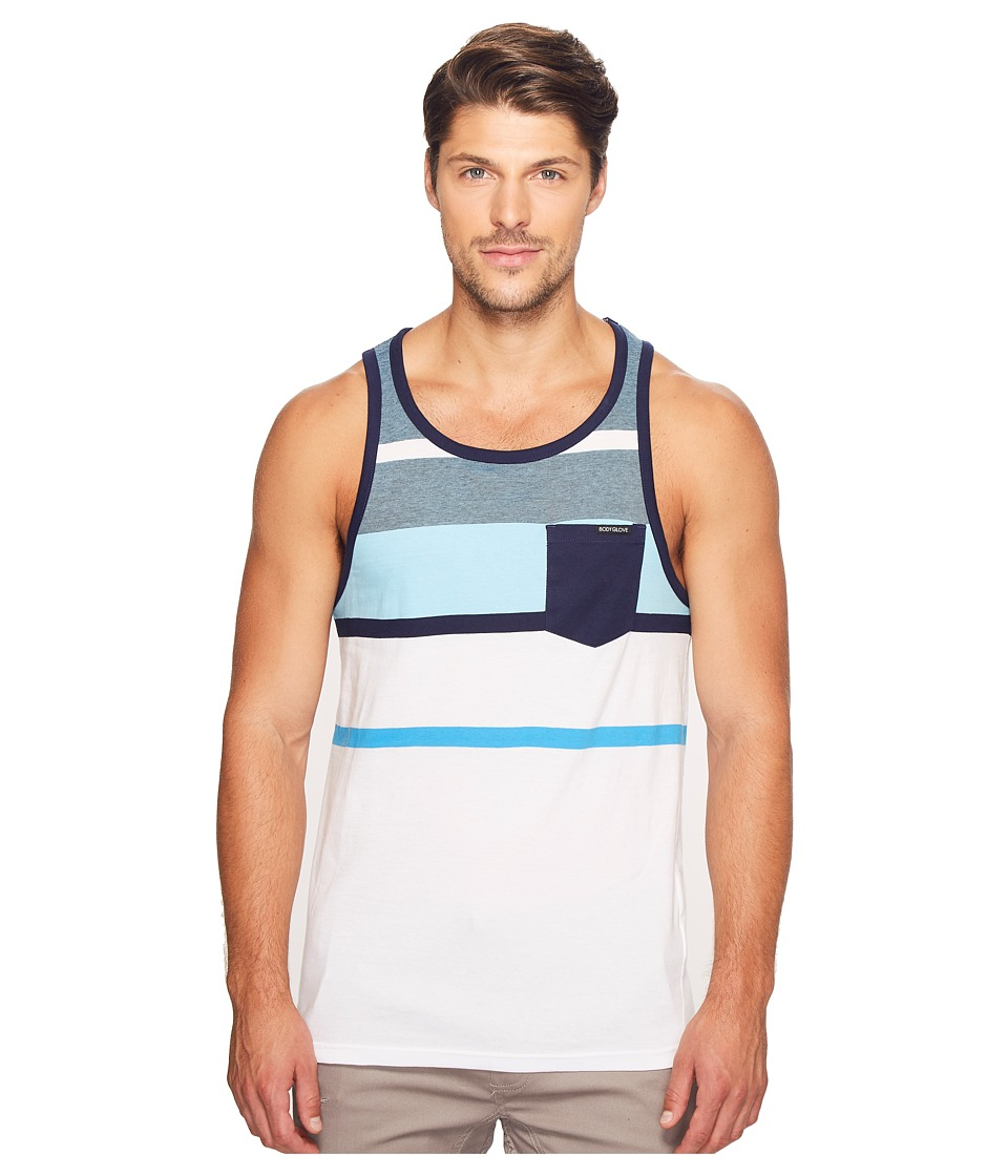 Body Glove - Justice Tank Top (White) Men's Sleeveless
