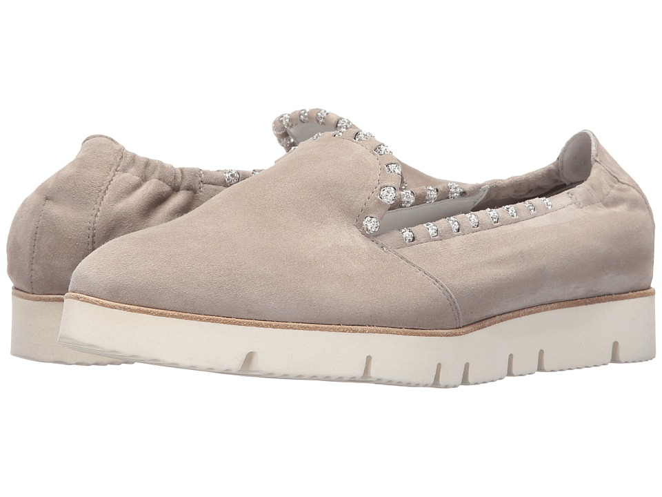Kennel & Schmenger - Pia X Crystal Trim Sneaker (Cement Suede) Women's Lace up casual Shoes