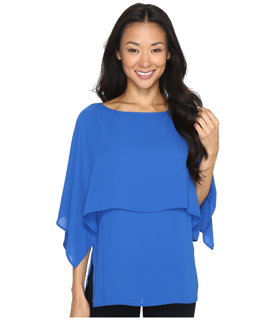 Karen Kane - Double Layer Top (Bright Blue) Women's Blouse