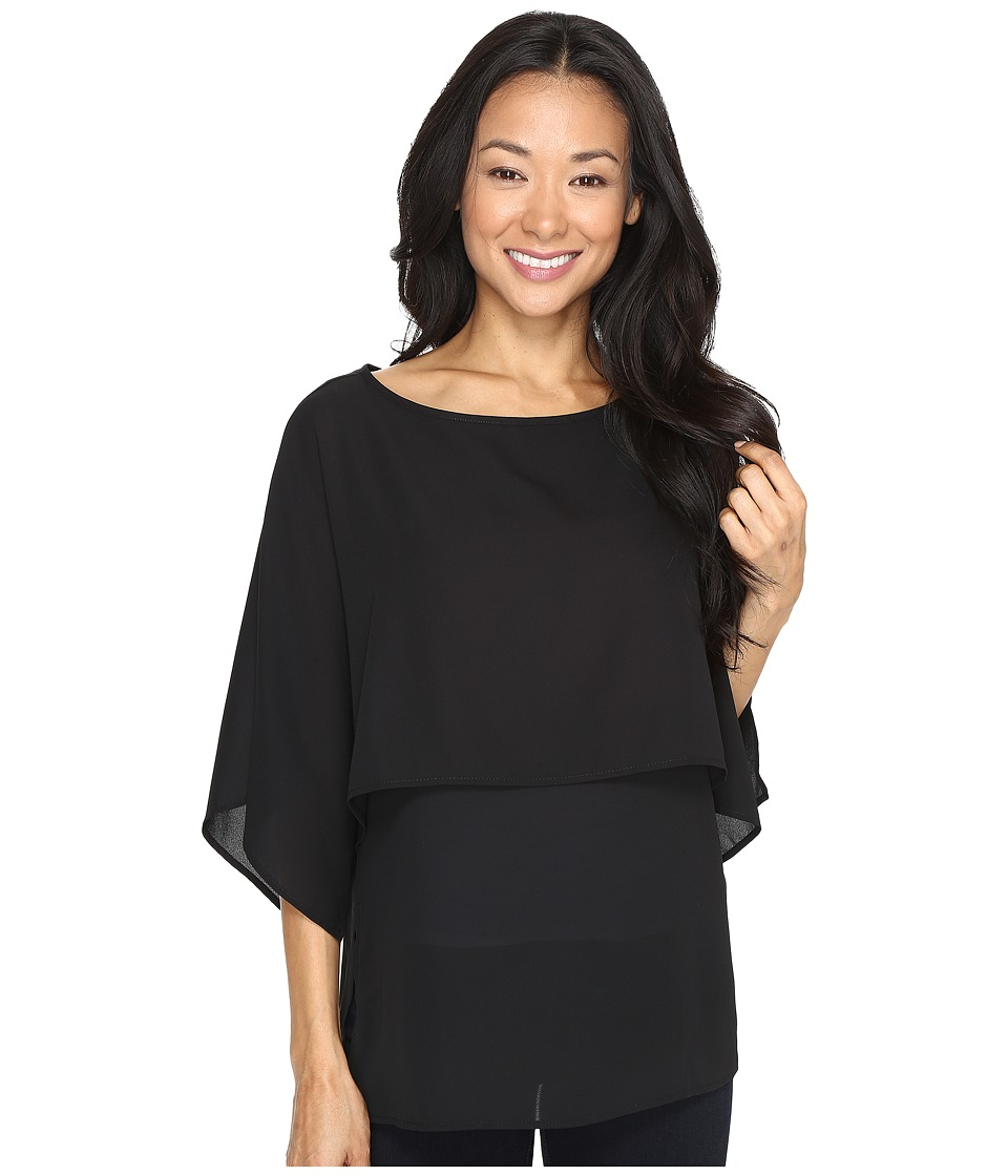 Karen Kane - Double Layer Top (Black 1) Women's Blouse