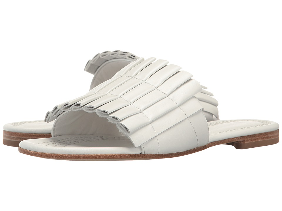 Kennel & Schmenger - Folded Leather Slide Sandal (White) Women's Shoes