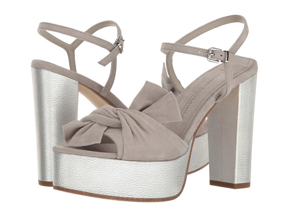 Kennel & Schmenger Alexa Bow Platform Sandal (Light Silver) Women