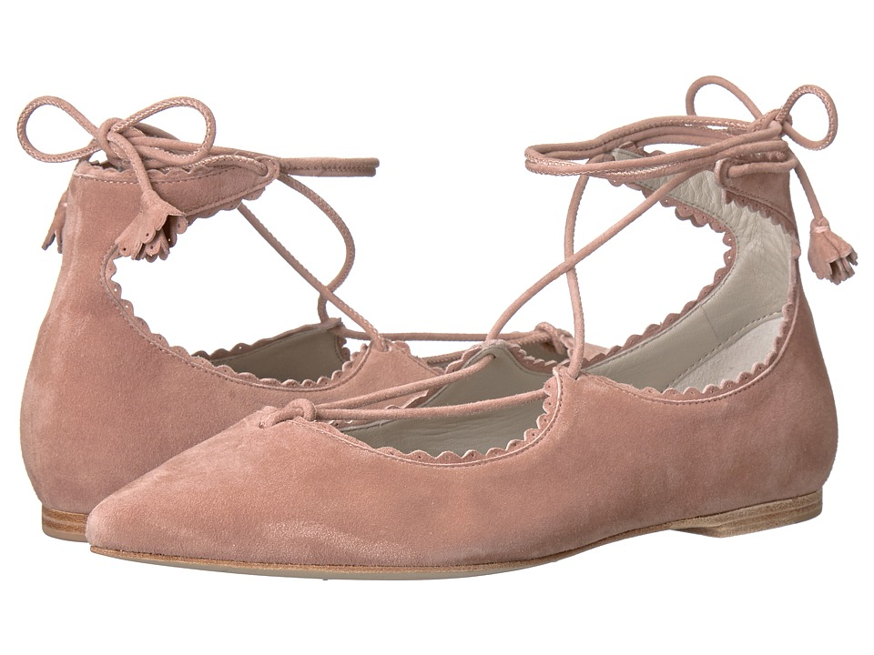 Kennel & Schmenger - Tassel Lace Zone Flat (Rosette Suede) Women's Shoes