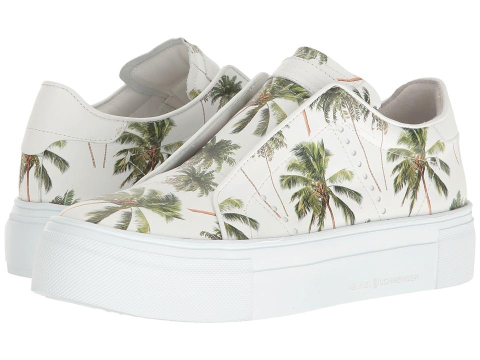 Kennel & Schmenger - Palm Lux Sneaker (White/Green) Women's Shoes