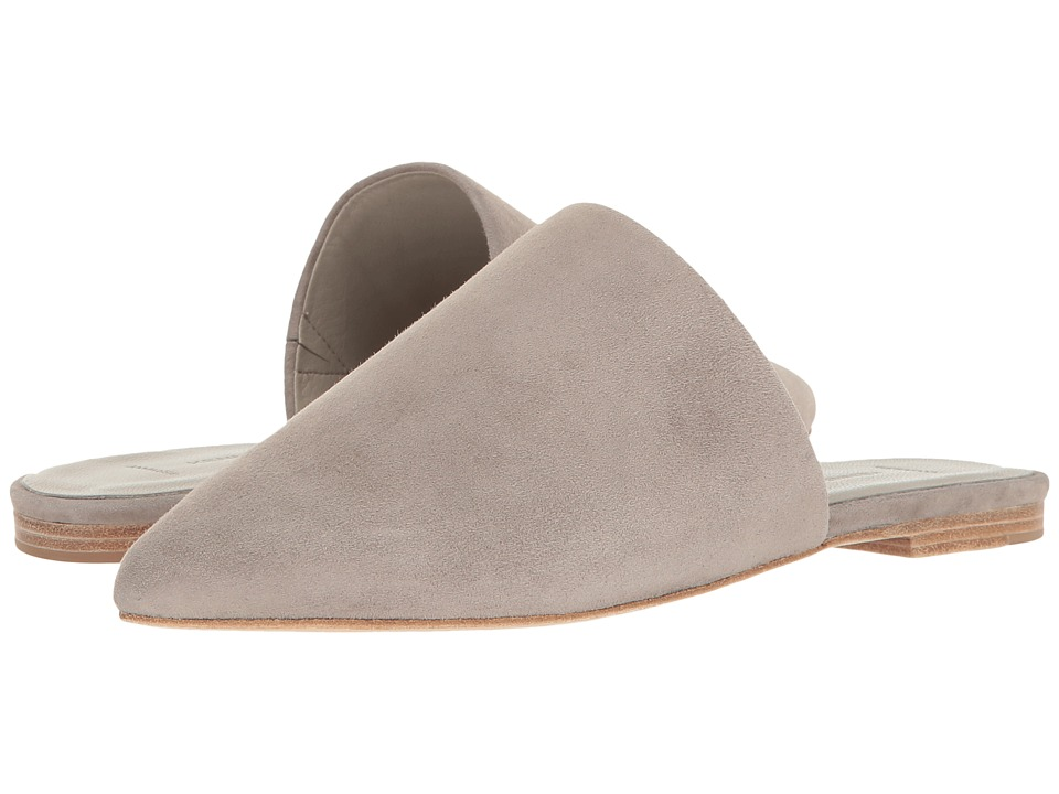 Kennel & Schmenger - Pointed Flat Slide (Ghost Suede) Women's Shoes