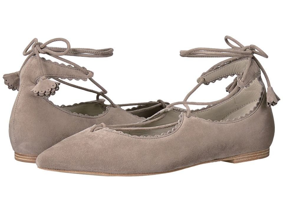 Kennel & Schmenger - Tassel Lace Zone Flat (Ghost Suede) Women's Shoes