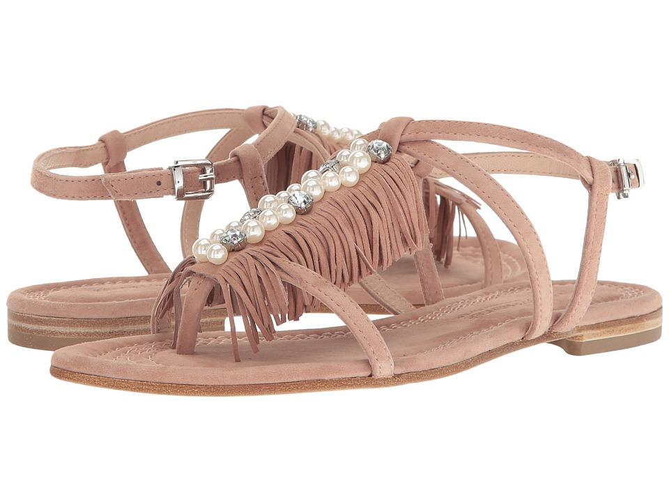 Kennel & Schmenger Pearl Fringe Flat Sandal (Rosette/Pearl) Women