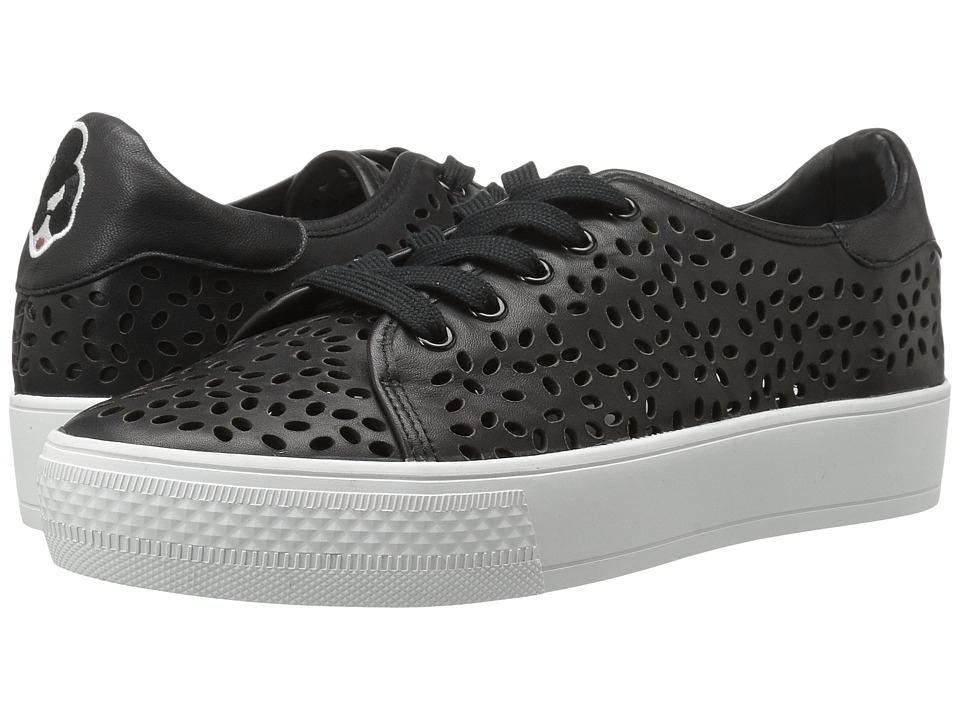 Alice + Olivia - Pemton (Black Laser Cut Leather) Women's Shoes