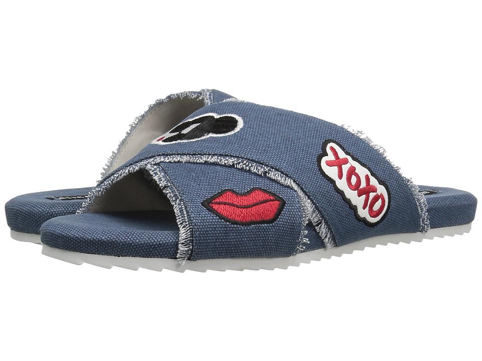 Alice + Olivia - Stace Emoji Slide (Light Blue Denim) Women's Shoes