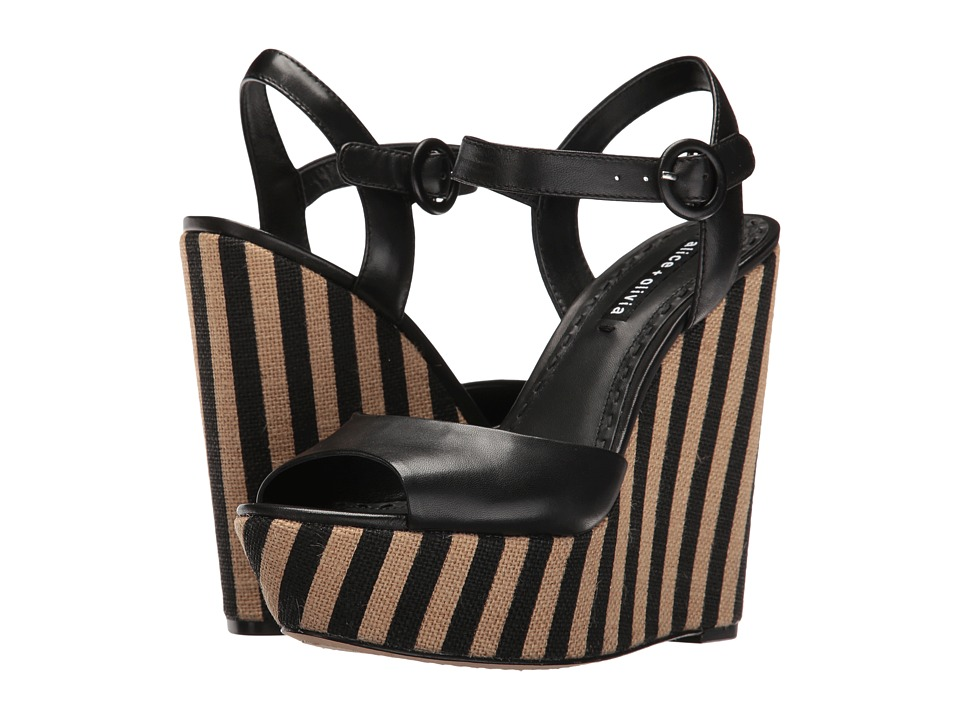Alice + Olivia - Laura (Black Glove Nappa) Women's Shoes