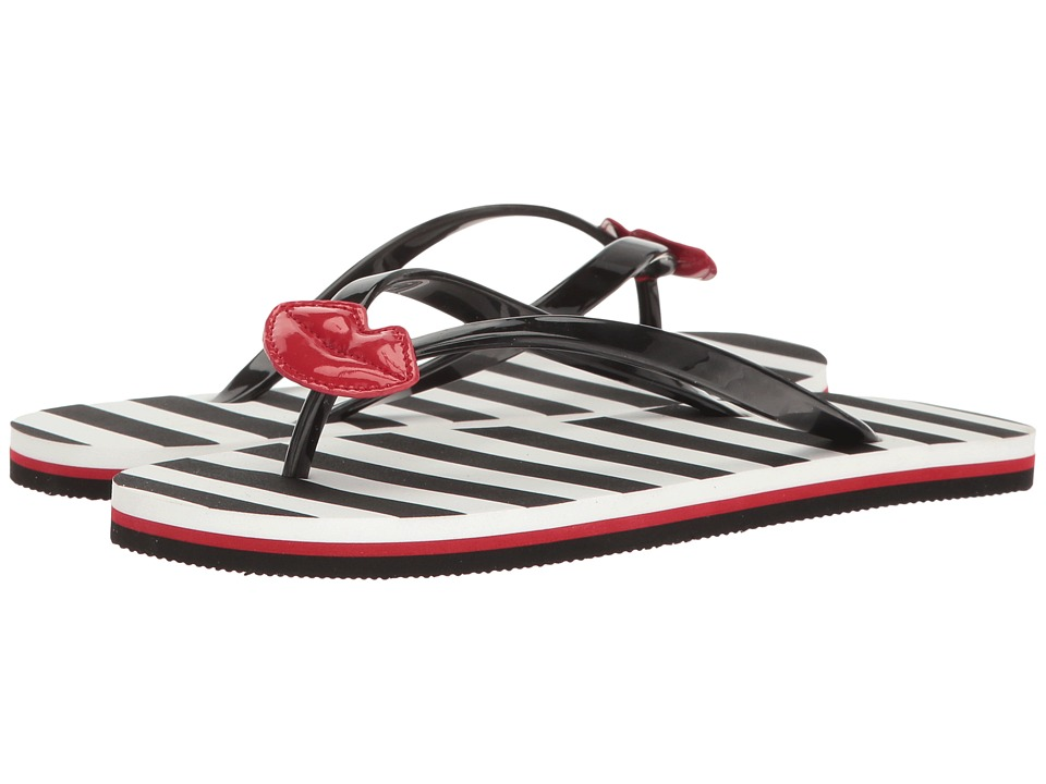 Alice + Olivia - Carly (Black Rubber/Red Patent) Women's Shoes