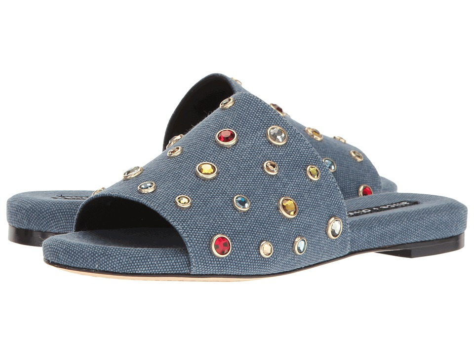 Alice + Olivia Ramona Stones (Blue Denim/Multi Stones) Women