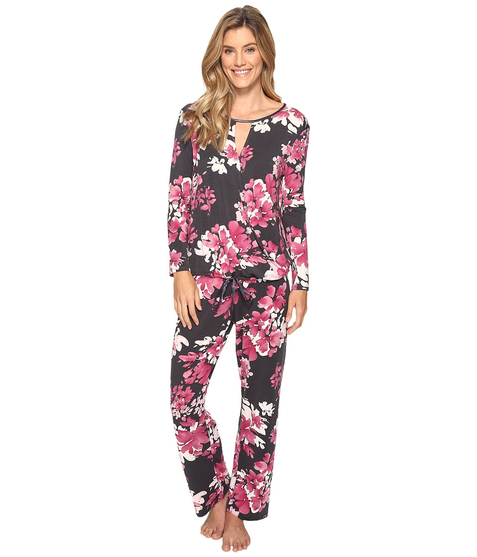 Midnight by Carole Hochman - Modal Long Sleeve PJ (Bouquet) Women's Pajama Sets