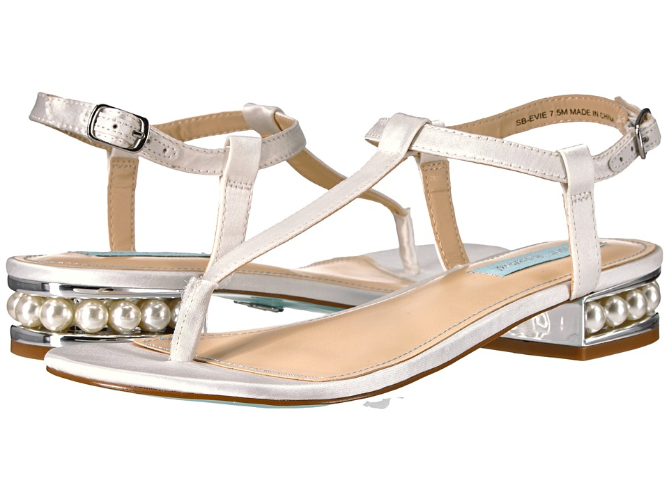 Blue by Betsey Johnson - Evie (Ivory Satin) Women's Shoes