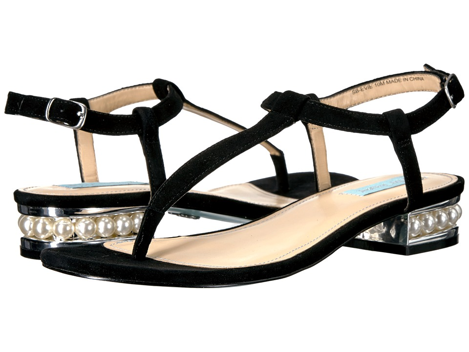 Blue by Betsey Johnson - Evie (Black Suede) Women's Shoes