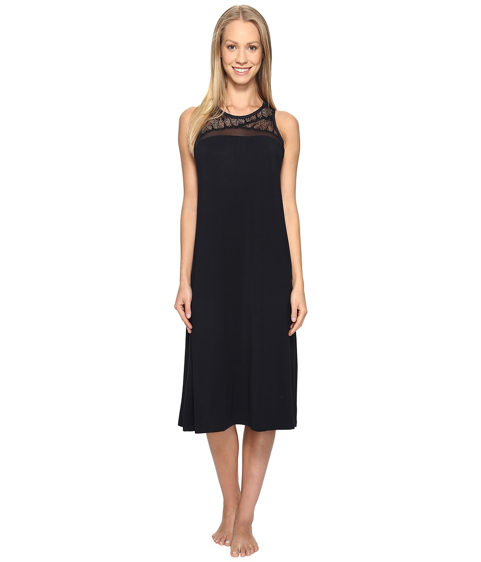 Midnight by Carole Hochman - Modal Long Gown with Lace (Midnight) Women's Pajama