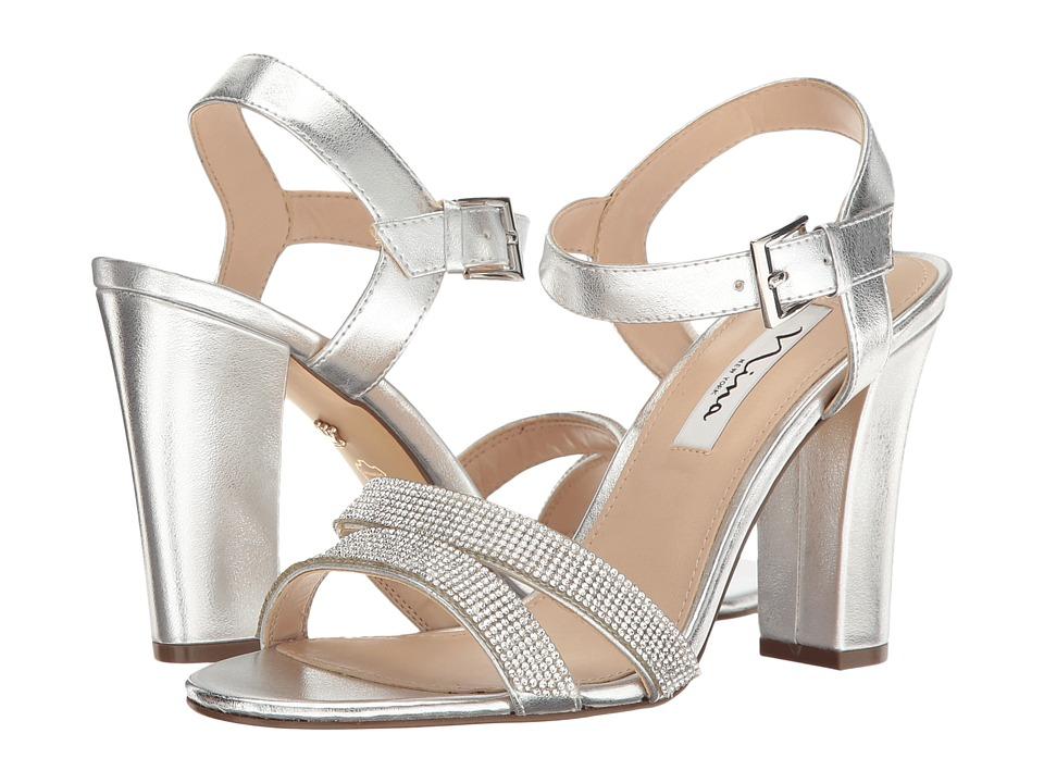 Nina - Sylvie (Silver Titan) High Heels