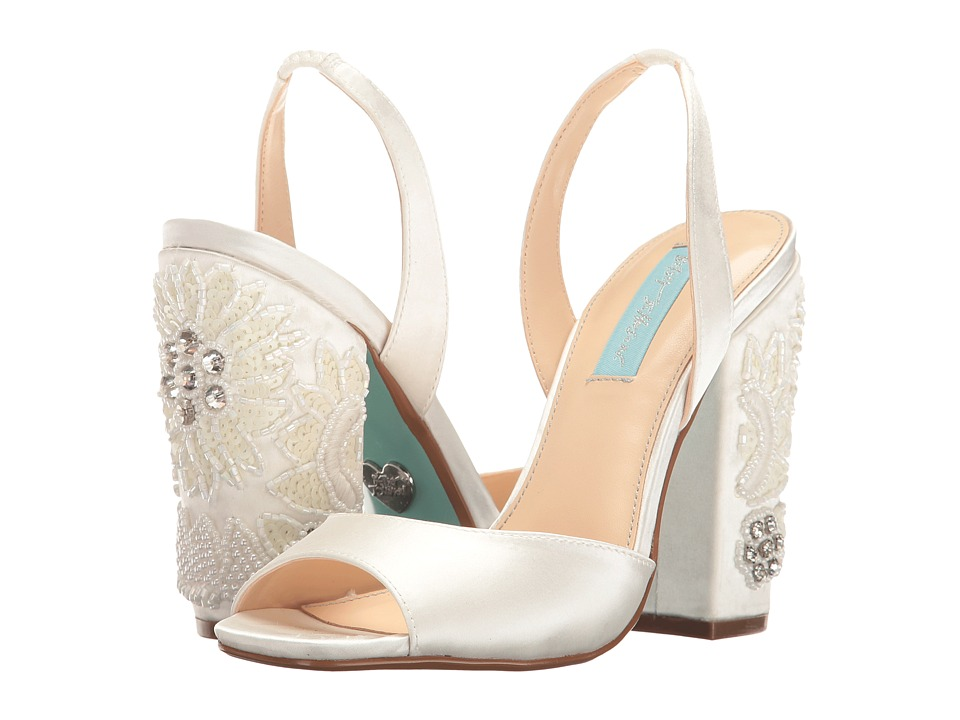 Blue by Betsey Johnson Vivi (Ivory Satin) High Heels