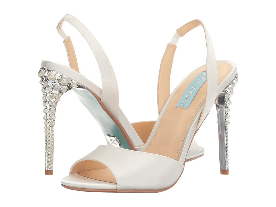 Blue by Betsey Johnson Naomi (Ivory Satin) High Heels
