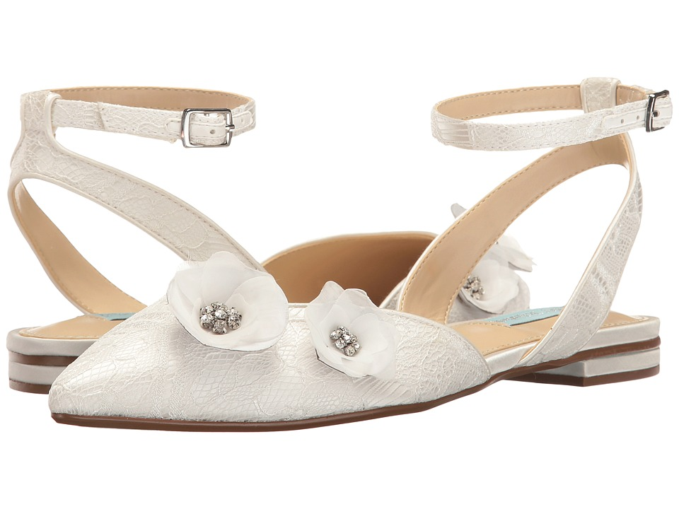 Blue by Betsey Johnson - Willa (Ivory Satin) Women's Flat Shoes